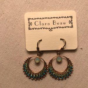 Clara beau peacock colored earrings